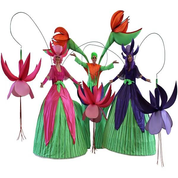 Distinctive Glorious Garden Silk Flower Centerpiece At Petals: Corporate Entertainment Hire UK