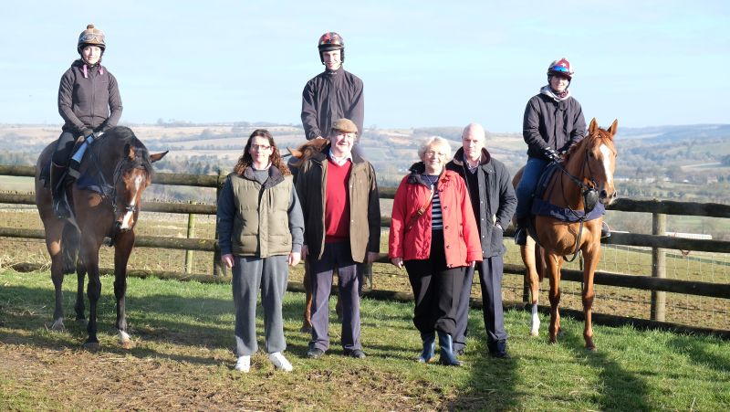 Kelly Gutteridge who trains a 100 greyhounds, Graham Thomas, Angela Rowleys and David Gadd. They were here for a morning on the gallops.