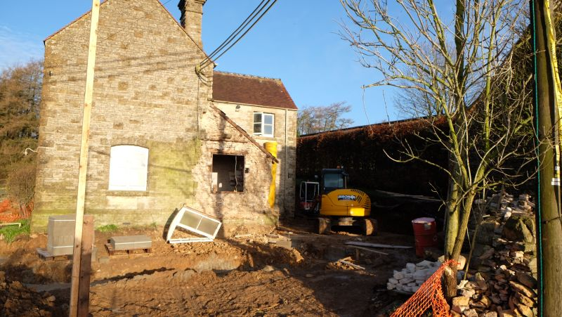 Work carries on at Thorndale farmhouse