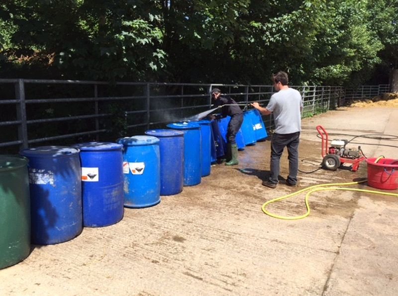 Cleaning out barrels to make more jumps for the winter ahead