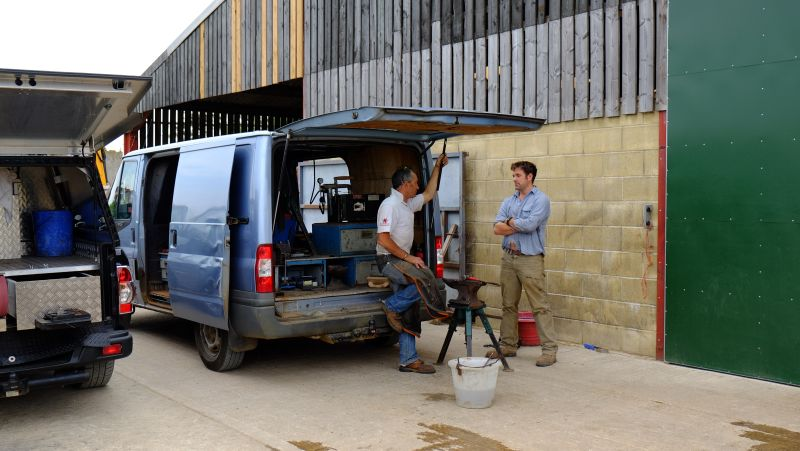 You cant beat a bit of discussion..Andy Martin our blacksmith talking to Dan Smith who has been sorting our school
