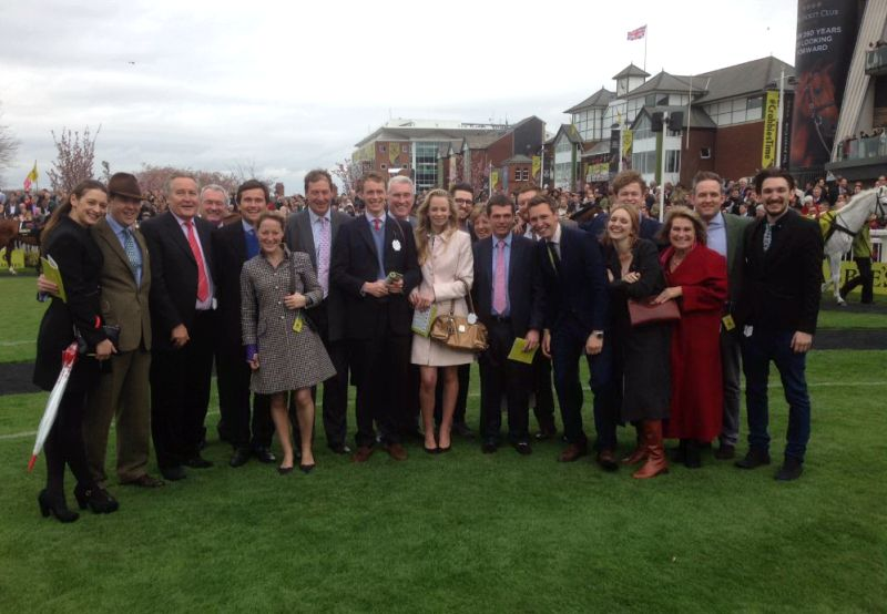 Owners and support team in the paddock before the big race.