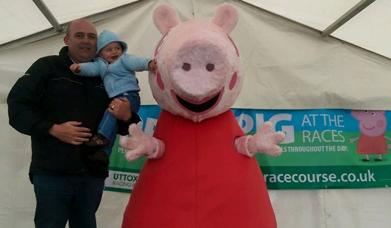 Steve Winter with Pepper Pig at Uttoxeter on Saturday