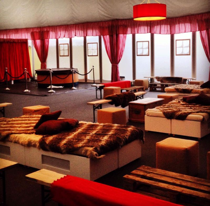 The Apres Ski Party tent is ready and waiting..
