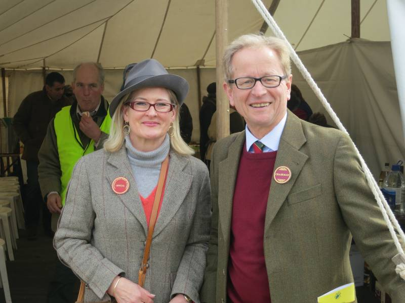 Cynthia and George Dowty.. Point to Point Chairman