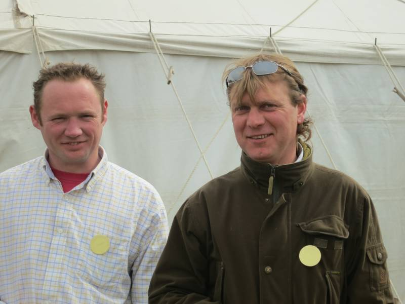 Tony Evans on the right who sponsored one of the races