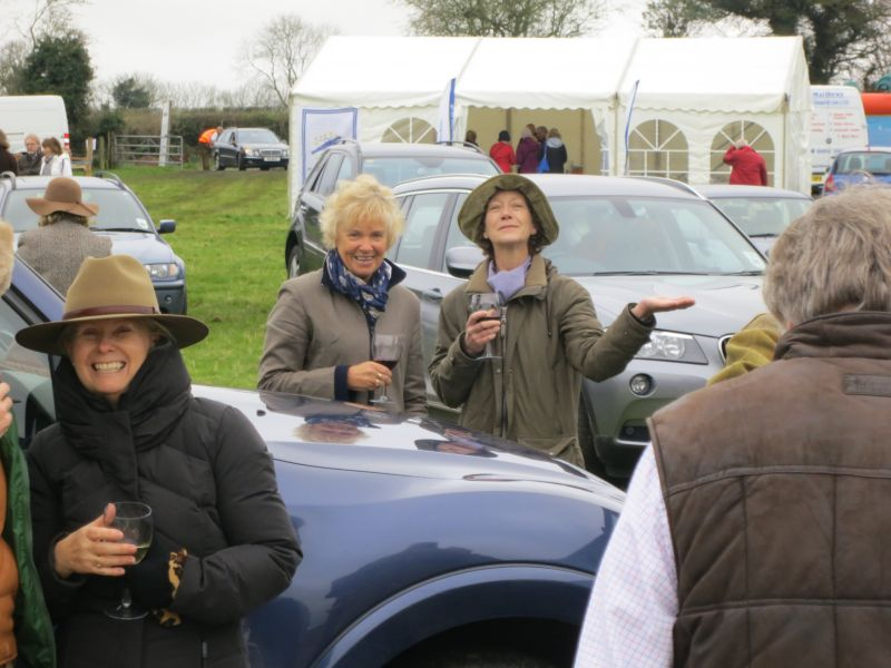Jane Bruce, Jane Hanks and Harriet Hicks all enjoy a free drink!!
