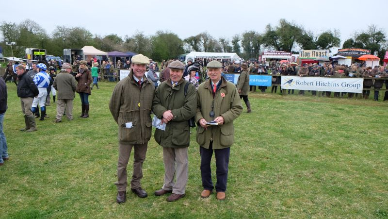 Course inspector Jon Trice Rolf and judges Roger Hanks, David Perry