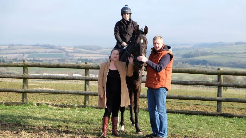 Mandy and John Battershall with Midnight Oscar
