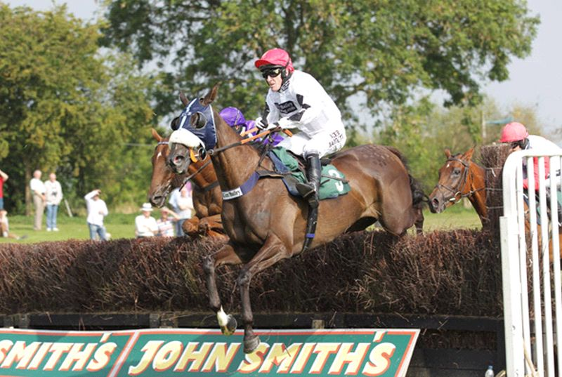 Midnight Oscar jumping the last at Uttoxeter yesterday..winner number 19