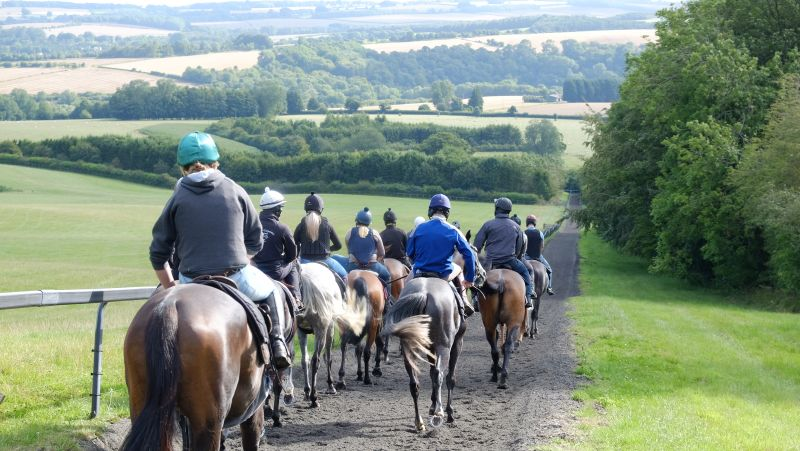 Walking back down the gallop