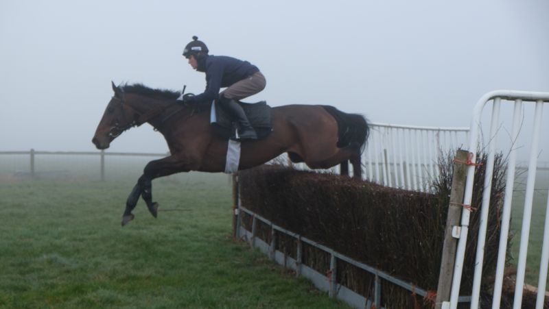 Harry Topper and Nick Scholfield jumping this morning