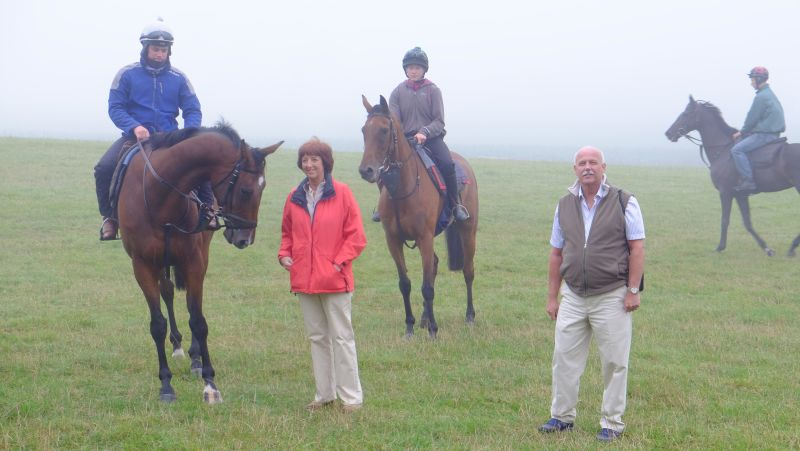 John and Veronica Full who were here for a morning on the gallops