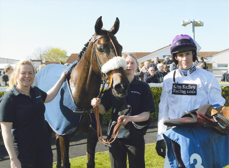 Jimmy The Jetplane in the winners enclosure