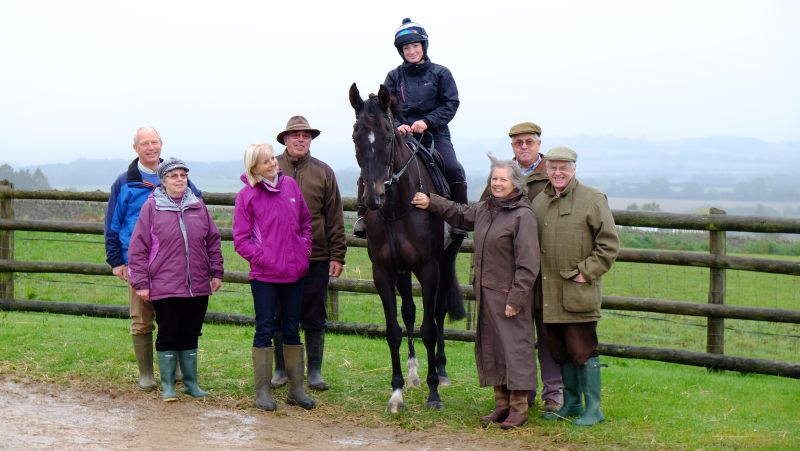 Third lots team of a morning of the gallops