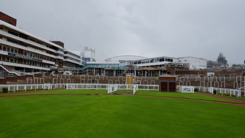 The Cheltenham paddock and winners enclosure