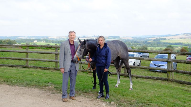 Sunblazer with his sole representative owner Colin Stewart
