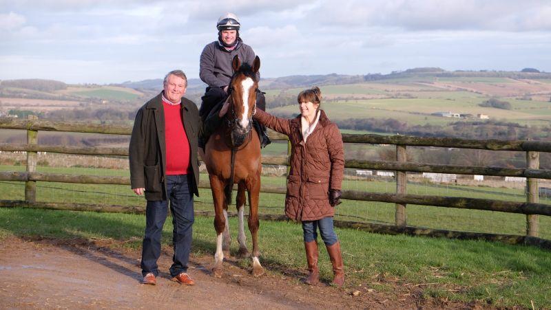 Keith and Liz Ellis with the Authorised Gelding