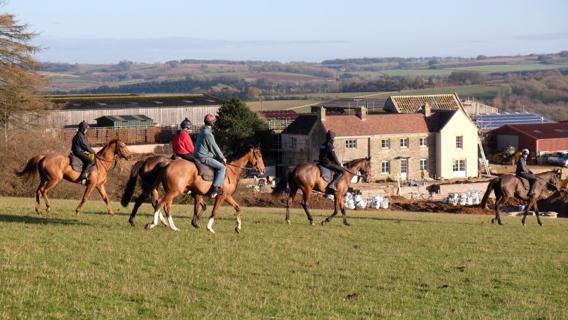 Passing Thorndale Farmhouse which Mark and Rosie have moved into last week