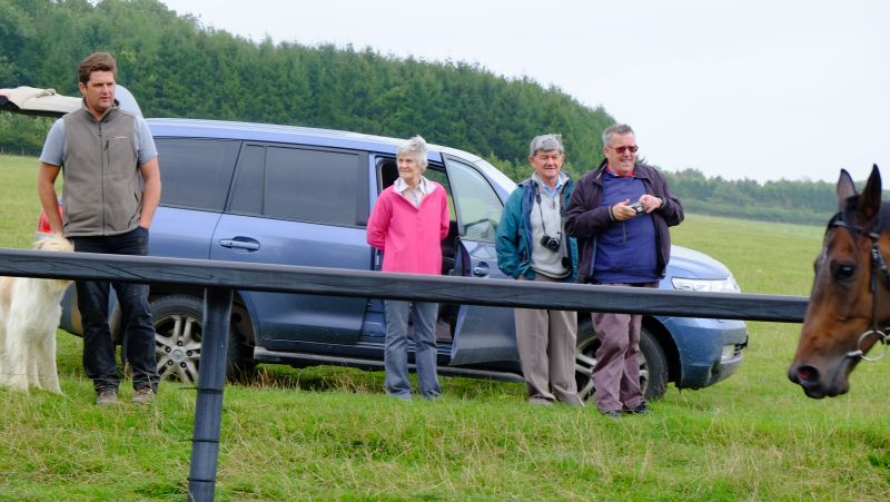 Mat, Pim, Mauraice and Rowland watching the horses working