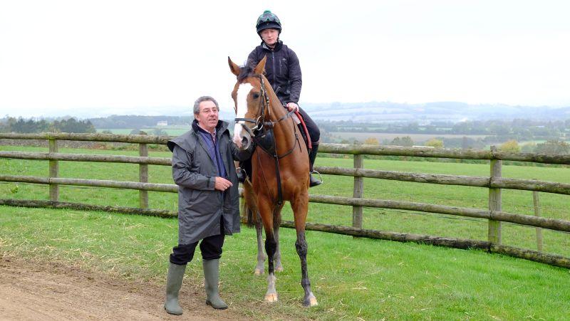 Geoff Ellis with his horse Tara's Rainbow