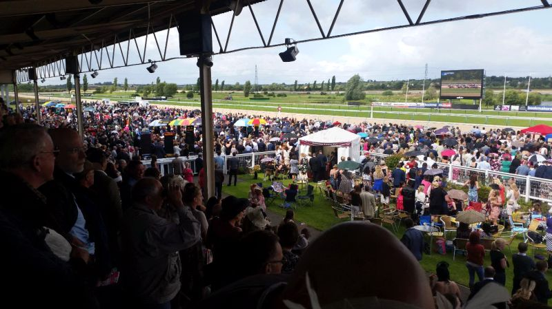 A huge crowd at Southwell during the first