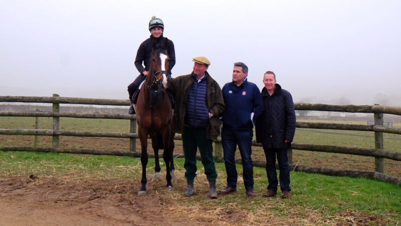 Laval Noir with Owner Andrew Bengough.. Neil Smith and Nigel Wood looking on admiringly?