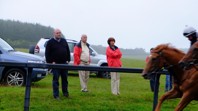 Steve Winter and John And Veronica Full watching the horses working
