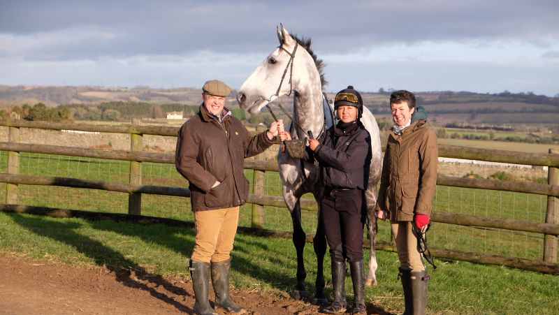 Jon and Nicola Owens with their KBRP horse Knockanrawley