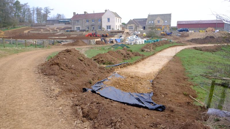 Our new horse walking track to the gallops is taking shape..