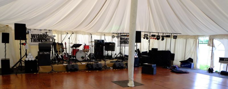 An empty band stage waiting..