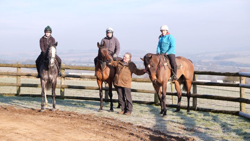 Michael Wilkes with his horses Sunblazer, Un Ace and Mor Brook