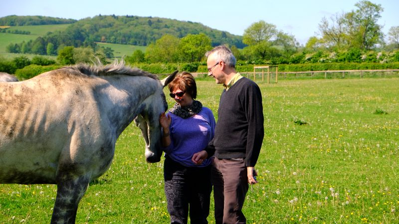 Knockanrawley with his owners Iainand Angela Bell