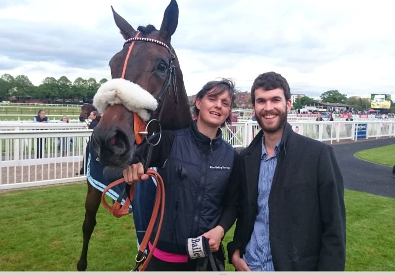 Matt Steer-Fowler looks happy with his horse