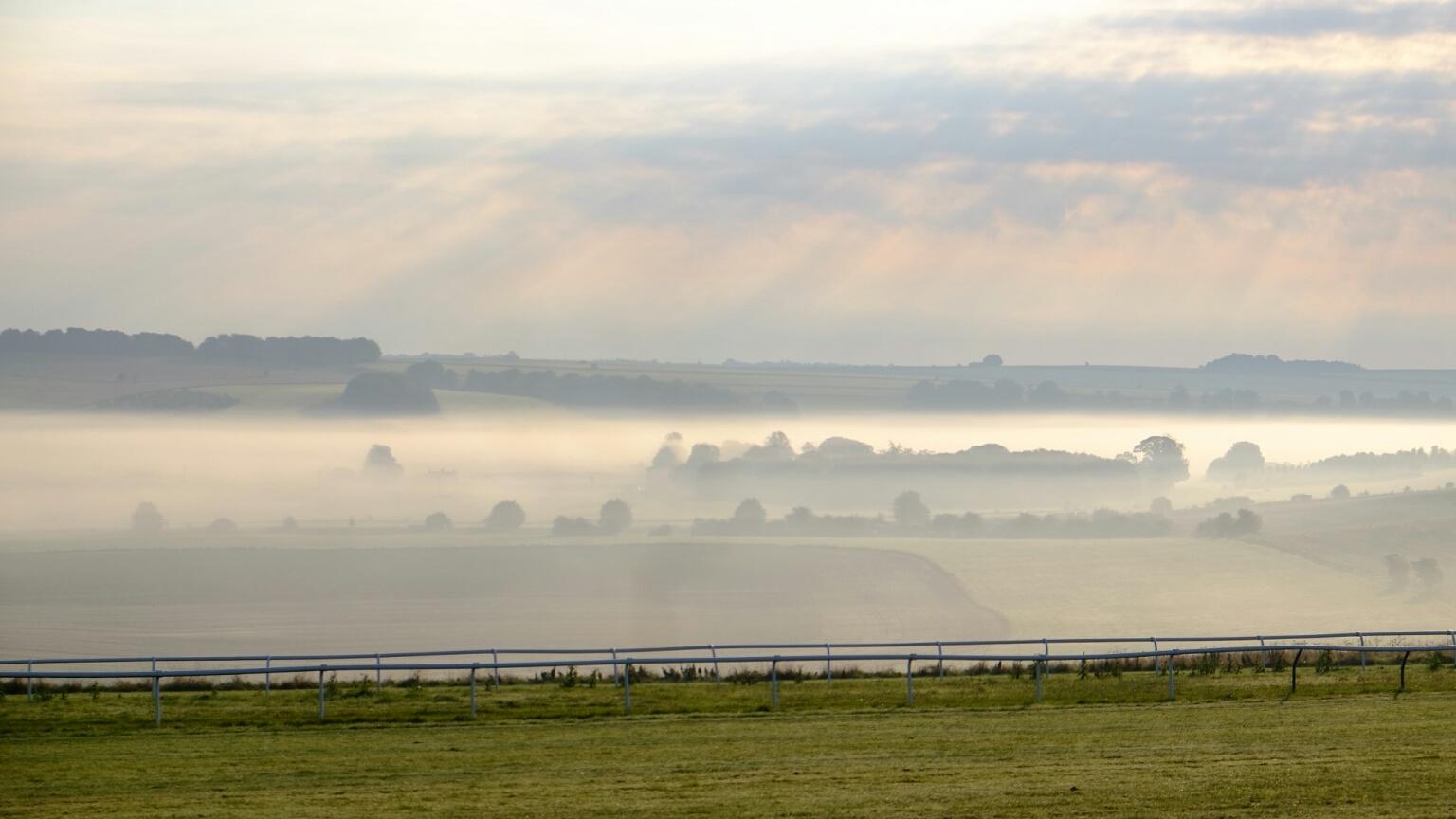 A view across to Seven Barrows