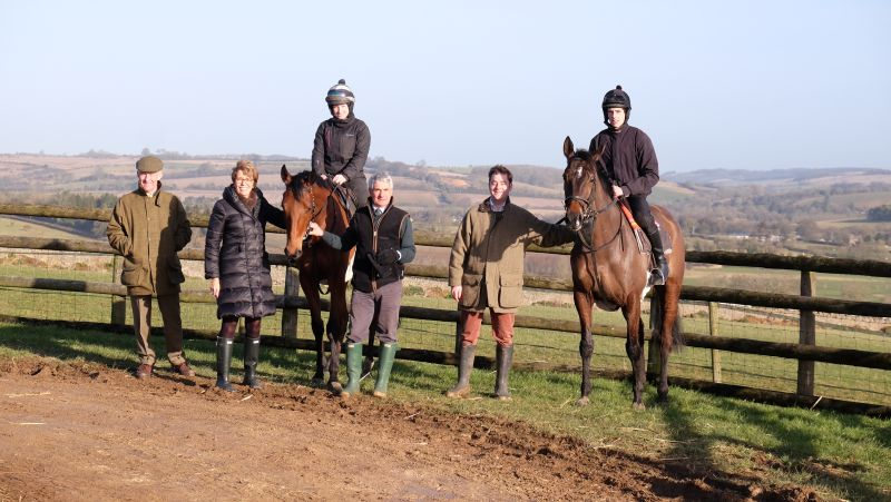 Simon and Sue Ellen, John Alley and Henry Kimbell with King Simba and Allez Encore