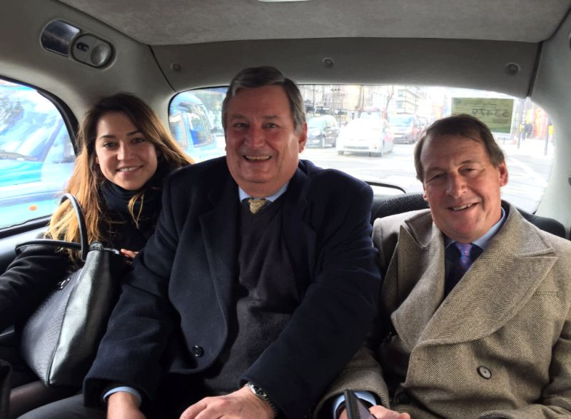 Not much room in my taxi. Charlotte and Martin Fetherstone Godley