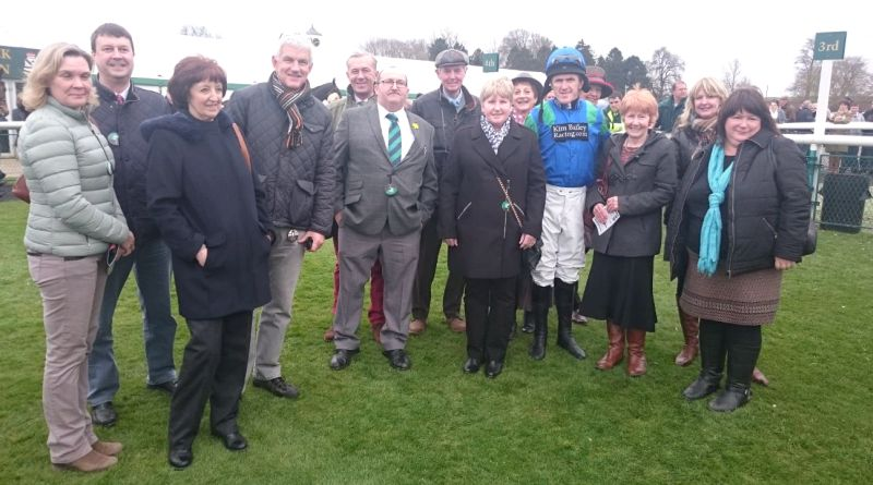 Members of the Have Fun Racing Partnership whose A Shade Of Bay was about to run