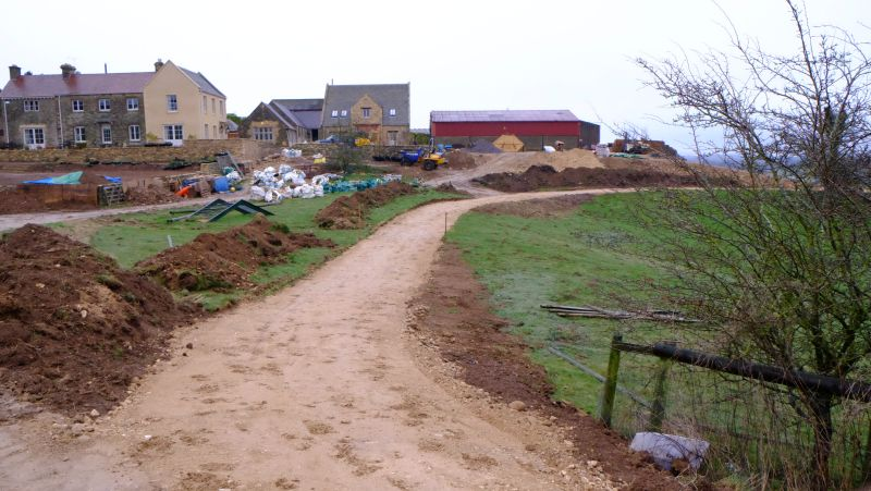 New track past Thorndale Farmhouse