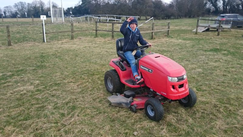 Even Archie Bailey did his bit by mowing the paddock