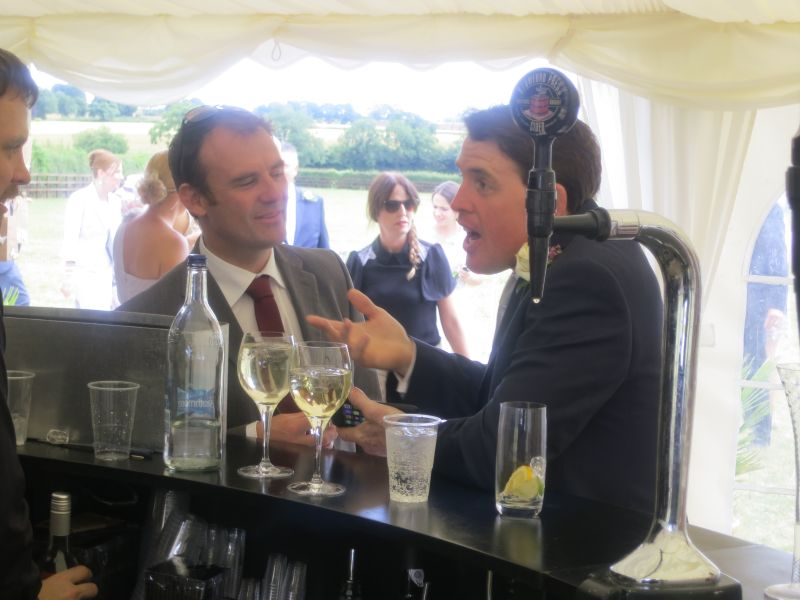 Tom Siddall and Jason Maguire discussing the price of a pint?