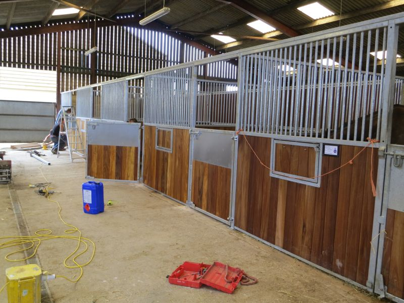 Top barn and new stables finishing the row off