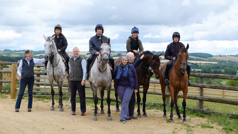 Melinda, Mark, Fiona and Peter with Knockanrawley, Silver Eagle, Mor Brook and Battle Dust