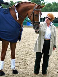 Farouche with owner / breeder Lynne Crowden