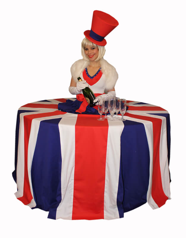 British Themed Living Tables