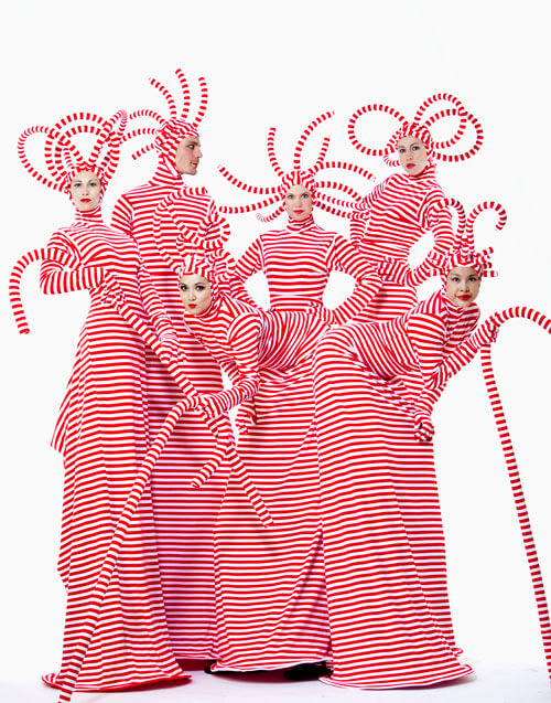 Curly Candy Stilt walkers