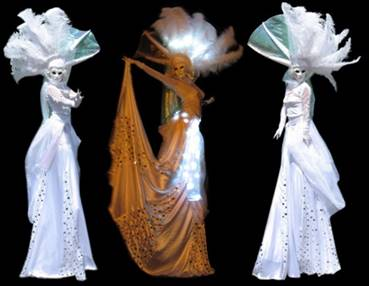 GEISHA STILT WALKERS