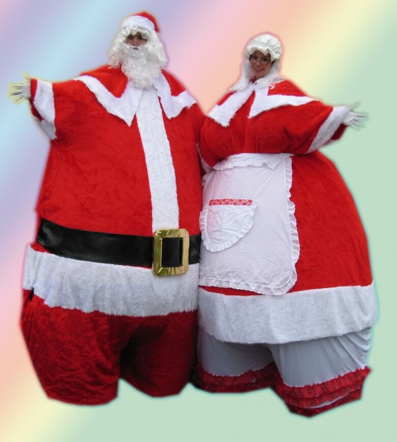 Fat Giant Santa Claus Stilt walker