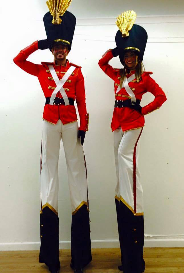 Royal Toy Soldier Stilt walkers