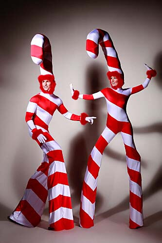 Candy Canes Stilt walkers london